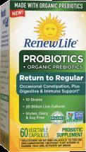Probiotics + Prebiotics Return to Regular product image.