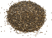 100% Organic Chia Black Seeds product image.