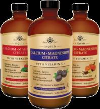 Liquid Calcium Magnesium Citrate with Vit D3 product image.